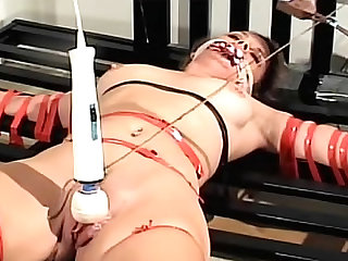 BDSM torture of an outstanding milf chick