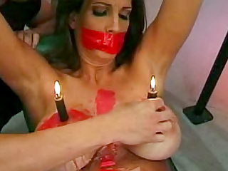 Sub in sexy latex loves hot wax