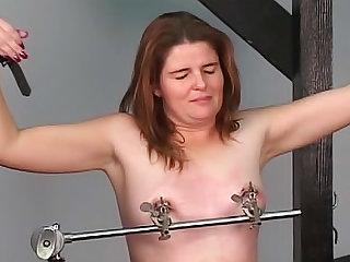 Military themed bondage and punishment