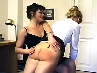 Ass spanking followed by real caning