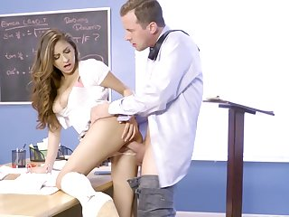 HEavy sceens of intense sex with a spicy schoolgirl seeking for better grades