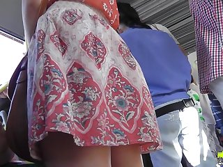 Hot voyeur scene with a reality upskirt
