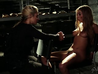 Fake tits lesbian enjoying her pussy getting licked marvelously