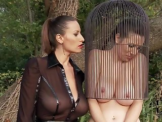 Get a load of this bondage video in which Sensual Jane is exhibiting her natural big tits while being punished by her clothed mistress.