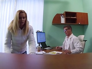 Blonde MILF Feeds Then Fucks Doctor