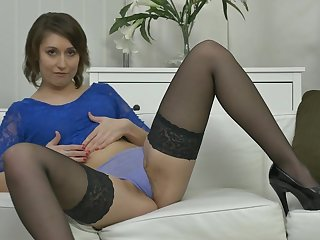 Hairy and hot mom playing with herself