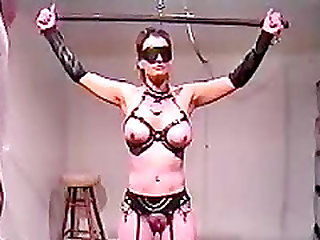 BDSM sex toy bound and used
