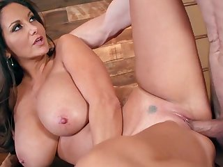Female boss, Ava Addams, reveals her huge tits and milf pussy for the younger guy, in a complete sex scene at work to grant her heavy fucking and orgasms