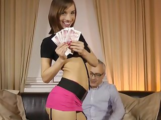 Money makes young Tina Hot to go wild on a senior cock, sucking and fucking like sluts until exhaustion