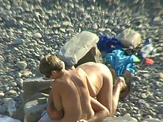 Take a closer look at the lewd clip with admirable mommy that is walking on the nudist beach