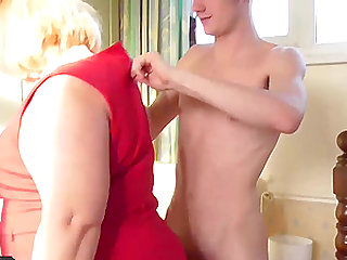 Mature ladies collection of hardcore fucking with handy youngsters
