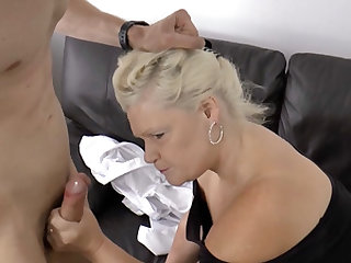 Kinky granny gets her pussy fucked by a young stud