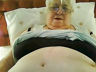 Super-sized 80y.o. British granny in black lingerie