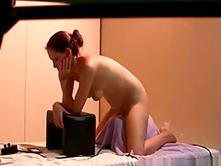 My girlfriend testing her new sybian