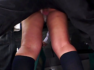 Japanese chick attacked by horny men in public transportation