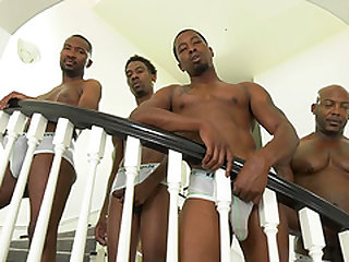 Britney Amber is ready for four handsome black lovers