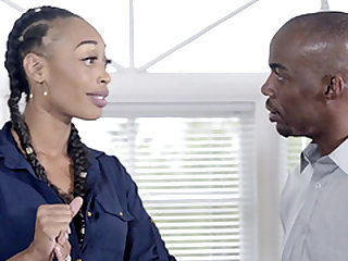 Kira Noir is a stunning ebony babe who cannot refuse a cock