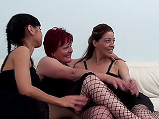 Cute lesbian Aniko in stockings licking pussy lovely
