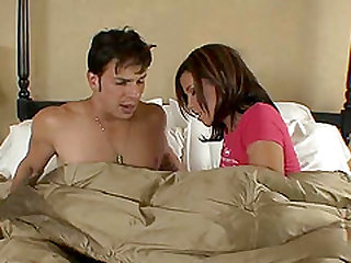 A long session of morning sex with the cute couple looks hot