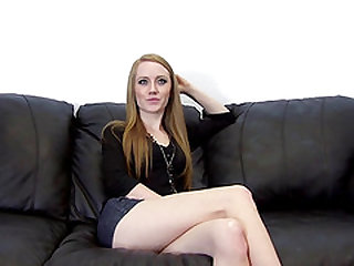 Skinny blonde Charlotte lovely smashed in indoor casting