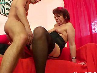 Emo Grandma Jana Pesova Fucked In Sexy Stocki