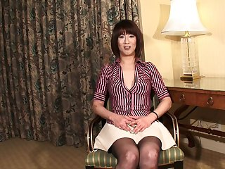 Fetching shemale from Asia exposes her meaty and bulbous mushroom