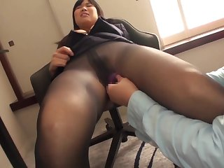 Pantyhose girl fucking on a business trip with her boss