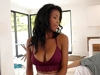 Nia Nacci is a black babe who cannot resist a couple of dicks