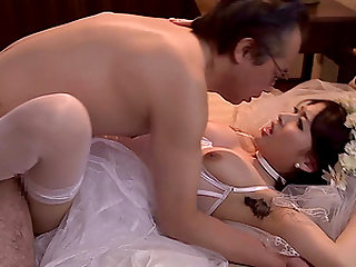 Mao Hamasaki is a horny bride ready to be fucked
