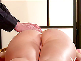 Alexis Crystal with fine ass pleasured with massage