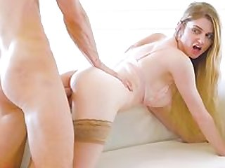 Nadya Nabakova mind blowing sex on the couch in doggy style