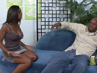 African sex where an ebony bends to have her cave pounded by a big black dick