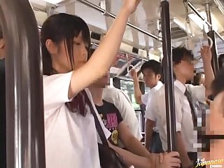 Teen Schoolgirl Lifts Her Skirt For Sex On A Public Bus