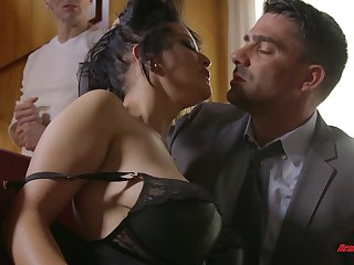 Boyfriend watches his submissive girl fucking her new man
