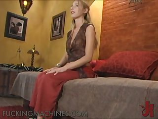 Unsatisfied Finds Pleasure With A Fucking Machine