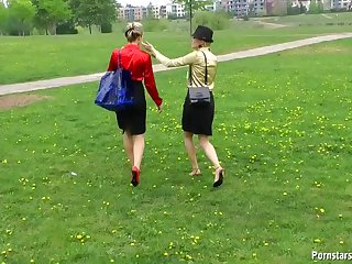 Messy Babes Have Wet And Messy Fun Outdoors At The Park