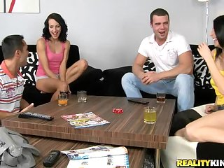 Eva Torres And Amy In Smoking Hot Foursome Clip