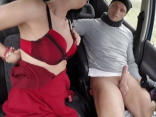 Their car breaks down so they get out the camera and make a sex tape