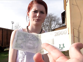 Cash Tempts Her to Fuck a Stranger