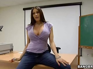 An After Class Threesome With A Horny Teacher And Two Horny Students