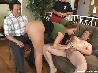 Couple Fuck Hardcore As Two Horny Guys Look On