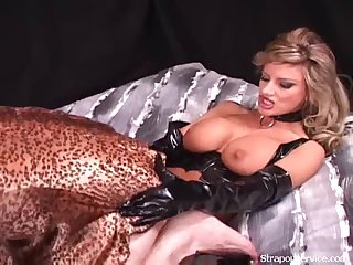 Blonde Dominatrix Loves Her New Sex Role