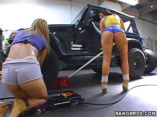Bootylicious Biker Babes get Banged In A Foursome