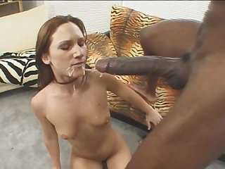 Small breasted brunette chick gets screwed by BBC