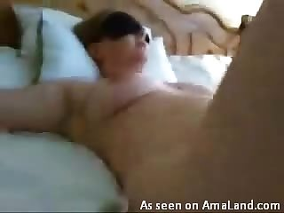 Creamy amateur pussy in close up