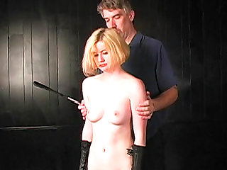 Sweet blonde with nice body is so submissive