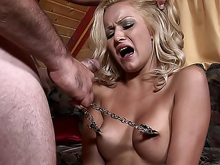 Helpless and hungry Chary is masturbating her pussy