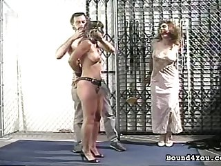 Classic BDSM video with pain