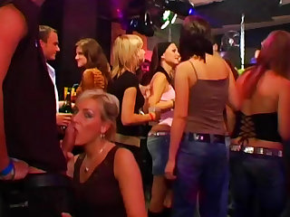 Club party with dancing babes and blowjobs