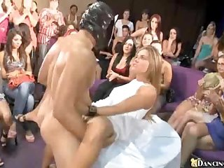 Slut fucked at huge party